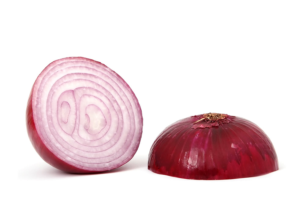 frozen Red onion in dices and slices