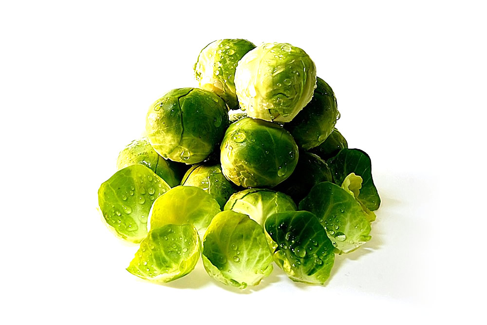 Whole frozen brussels sprouts