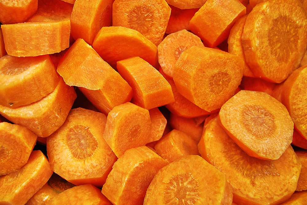 Carrot in slices