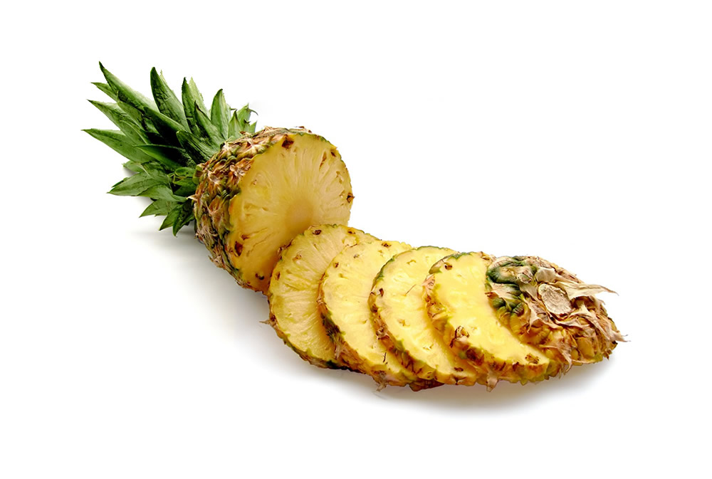 Pineapple in slices