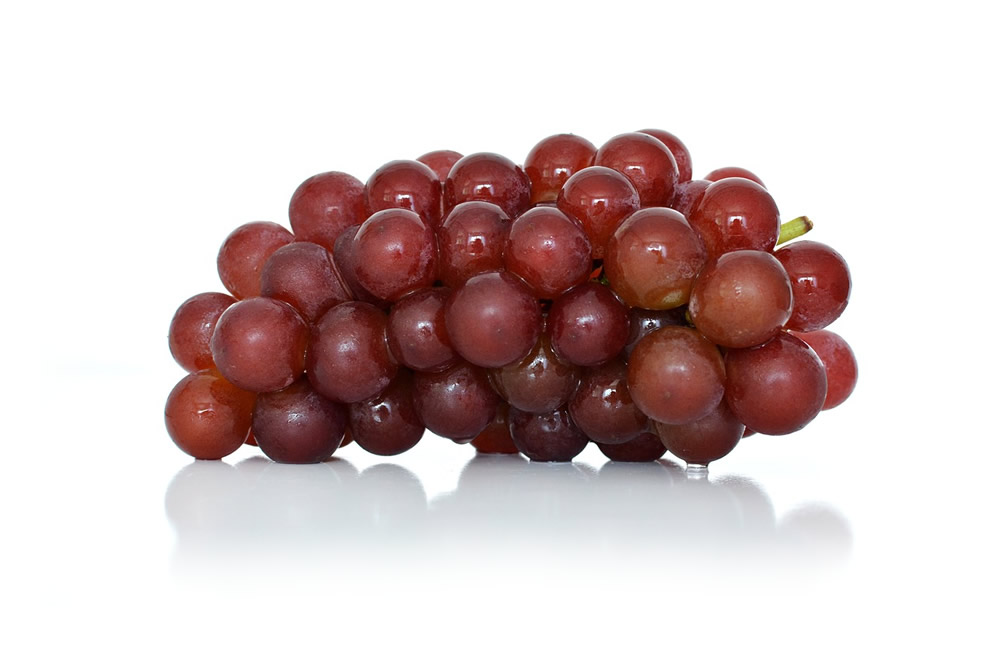 Whole red grape