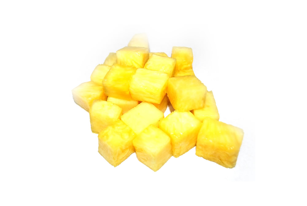 Pineapple in dices