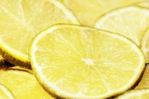 lemon in slices